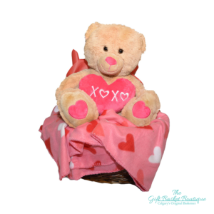 Teddy Bear Love Gift Basket Calgary