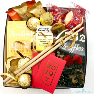 chinese new year gift basket image