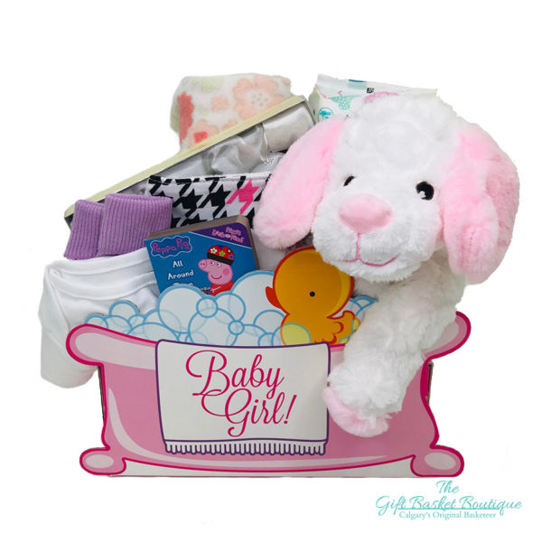 Baby Bubbles Gift Basket Calgary Girl