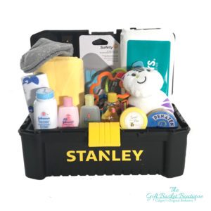 tool box baby gift basket