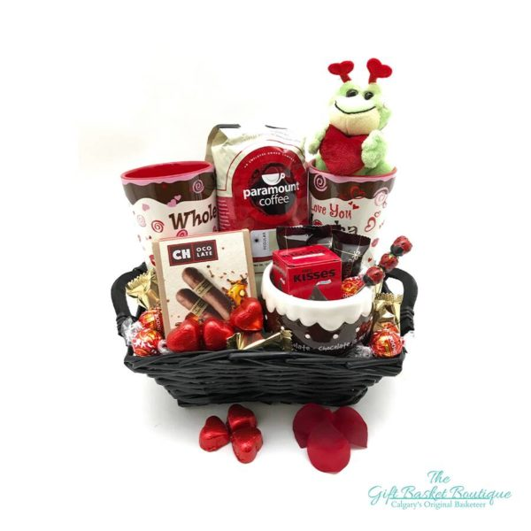 for the love of mocha coffee gift basket