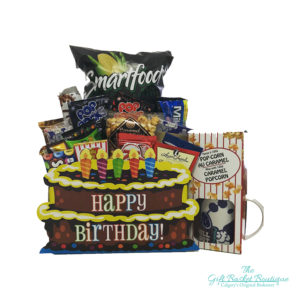 Happy Birthday Deluxe Gift Basket Calgary