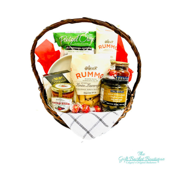 Italian themed gift basket