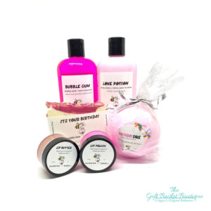 bath bomb lotion gift basket Calgary
