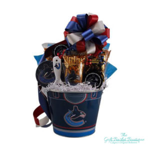 Vancouver Canucks Collectable Gift Basket Calgary