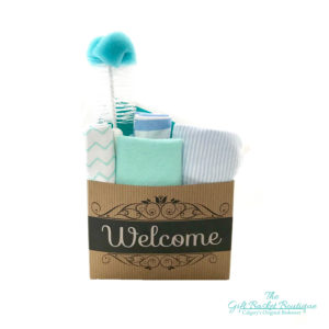 Welcome Newborn Baby Boy Gift Basket