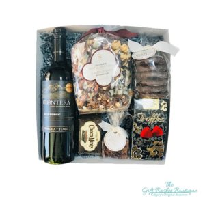 Chocolate and Wine Gift Basket Calgary