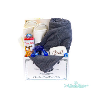 comfortable gift basket