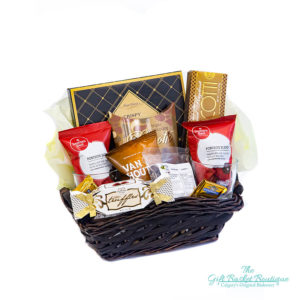 big coffee gift basket side